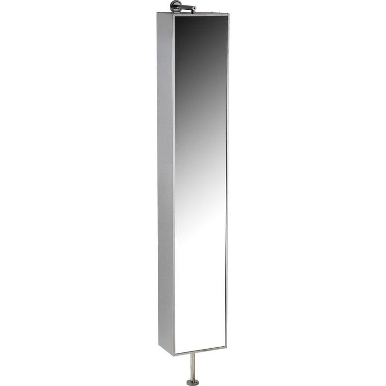 Armoire de toilette imitation m tal cm urban leroy merlin - Miroir pivotant salle de bain ...
