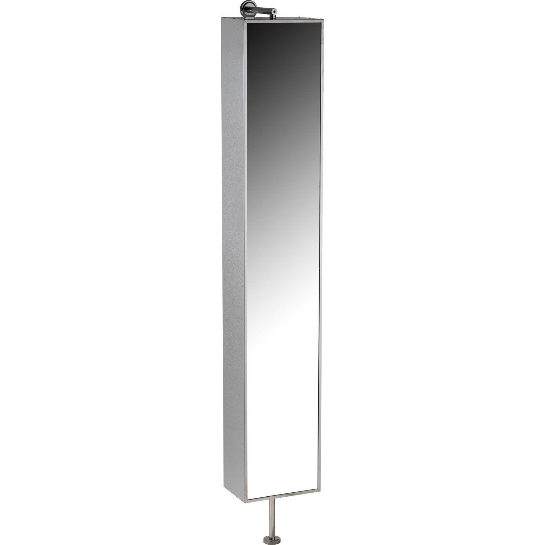 Armoire de toilette l.30 cm, imitation métal, Urban   Leroy Merlin