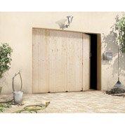 Porte de garage coulissante PRIMO, sapin, 200 x 240cm