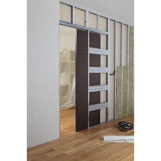 Comment poser une porte coulissante galandage leroy for Poser des portes coulissantes