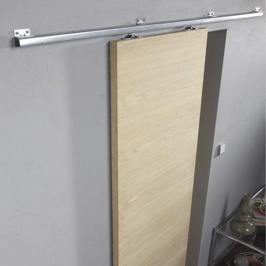 Rail coulissant aluminium tango pour porte de largeur 93 - Rail coulissant pour porte en verre ...