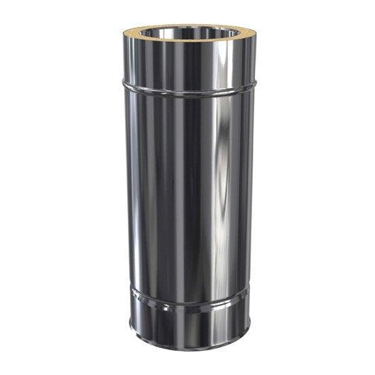 tuyau pour conduit double paroi isotip joncoux, d80 mm 0.45 m