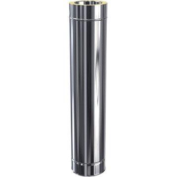 Tuyau pour conduit double paroi ISOTIP JONCOUX, D80 mm 0.95 m