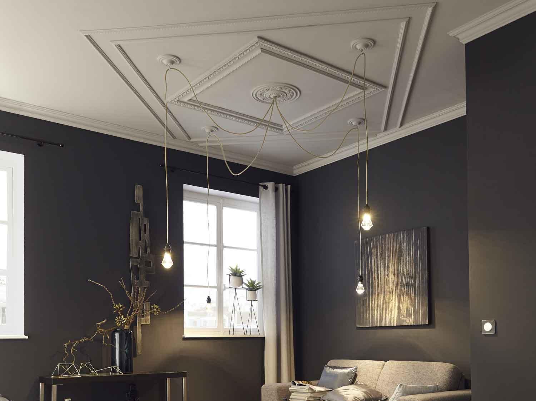dalle rosace et moulure de plafond leroy merlin. Black Bedroom Furniture Sets. Home Design Ideas