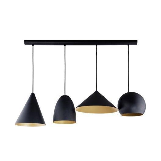 Suspension design rubio m tal noir or 4 x 60 w eglo for Suspension noir et or