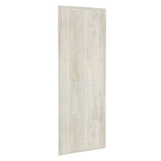 porte de placard coulissante sur mesure kazed traditionnel de 80 1 100 cm leroy merlin. Black Bedroom Furniture Sets. Home Design Ideas