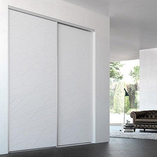 Porte de placard coulissante sur mesure iliko classic de for Porte coulissante 150 cm