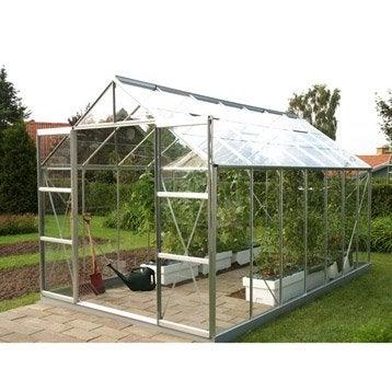 Serre de jardin en verre trempé Uranus gris, 11.437 m²