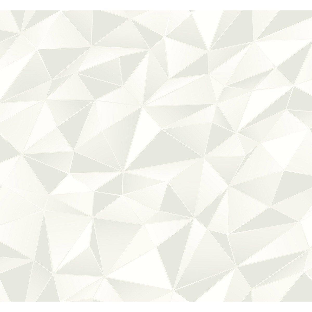 Papier Peint Vinyle 3d Losange Blanc