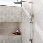 Faïence mur blanc, Décor tonnerre l.25 x L.50 cm