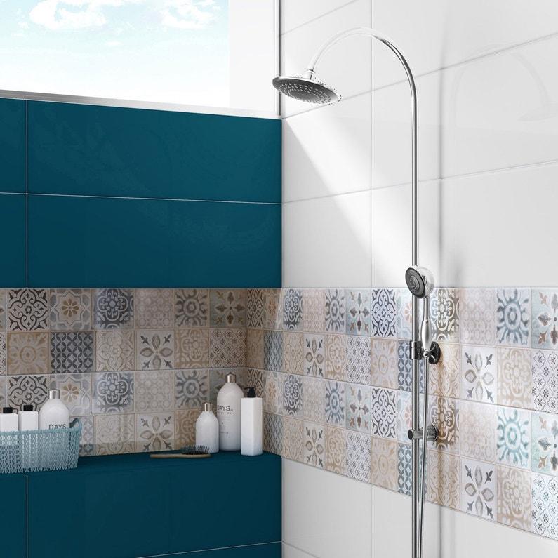 Faïence mur bleu, Haussmann l.25 x L.76 cm | Leroy Merlin