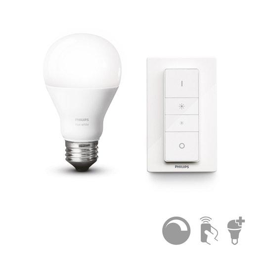 kit philips hue dim switch ampoule connect e e27 9 5w. Black Bedroom Furniture Sets. Home Design Ideas