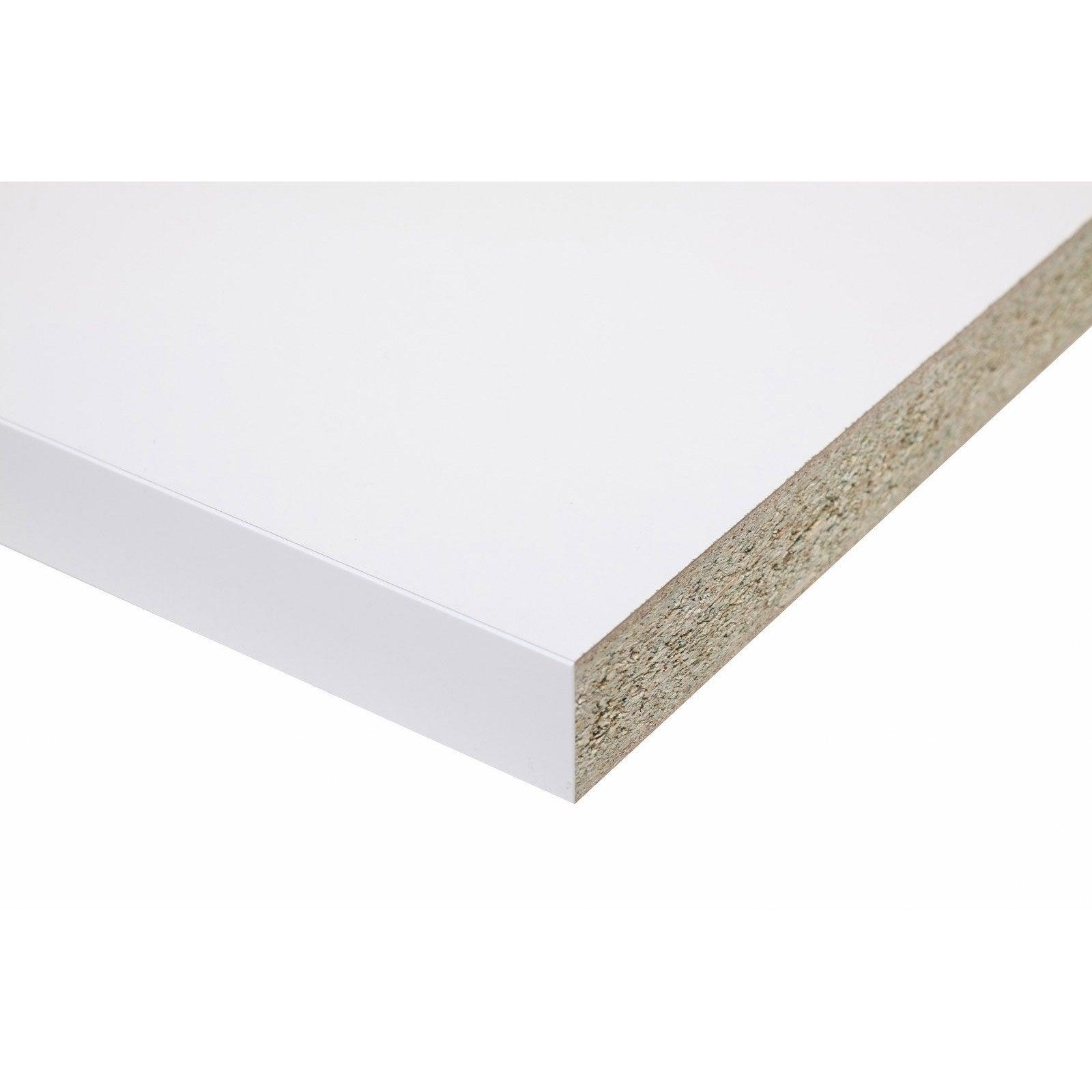 Micro Rayure Plan De Travail Stratifié plan de travail stratifié blanc brillant l.315 x p.65 cm, ep.38 mm