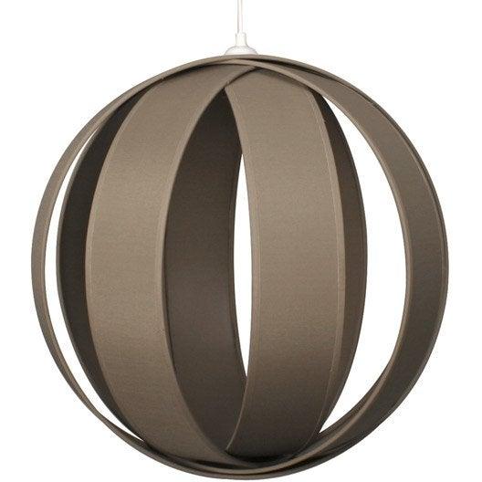 suspension moderne anneaux coton brun taupe n 3 1 x 20 w inspire leroy merlin. Black Bedroom Furniture Sets. Home Design Ideas