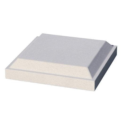 chapeau de pilier antibes cannes arcadia en b ton blanc l. Black Bedroom Furniture Sets. Home Design Ideas