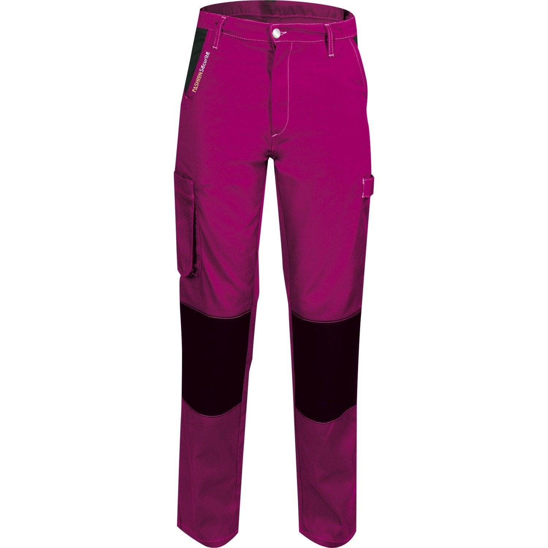 Pantalon De Travail Fashion Securite Peps Rose Noir Taille 36 38