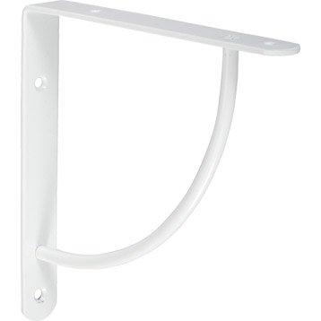 Equerre Bi bop acier epoxy blanc, H.18 x P.18 cm