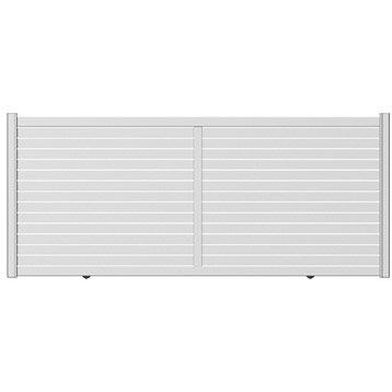 portail coulissant aluminium trez naterial blanc blanc n 0 350x155cm. Black Bedroom Furniture Sets. Home Design Ideas
