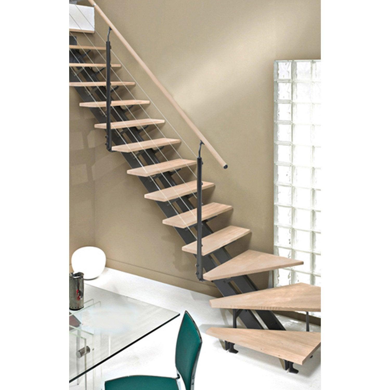 Escalier quart tournant escatwin structure aluminium for Escalier bois 5 marches