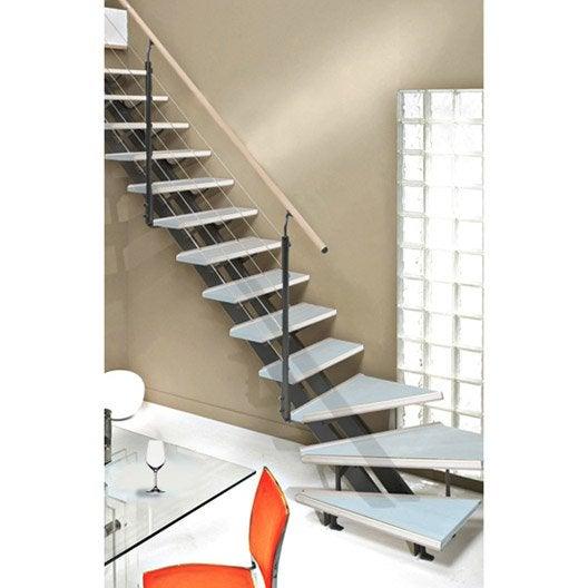 Escalier quart tournant escatwin structure aluminium for Type d escalier interieur