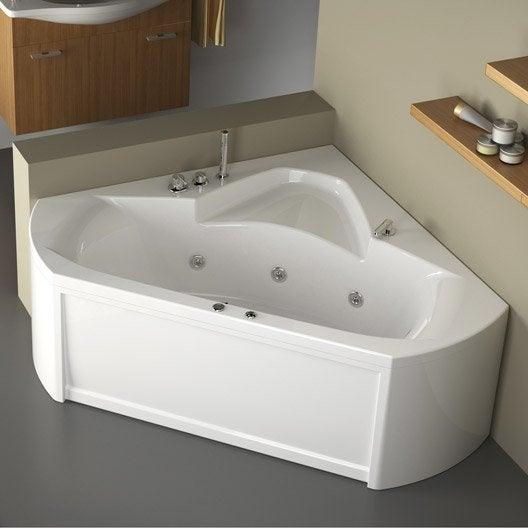 Baignoire baln o avec tablier angle thala confort 140 x - Baignoire avec tablier acrylique ...