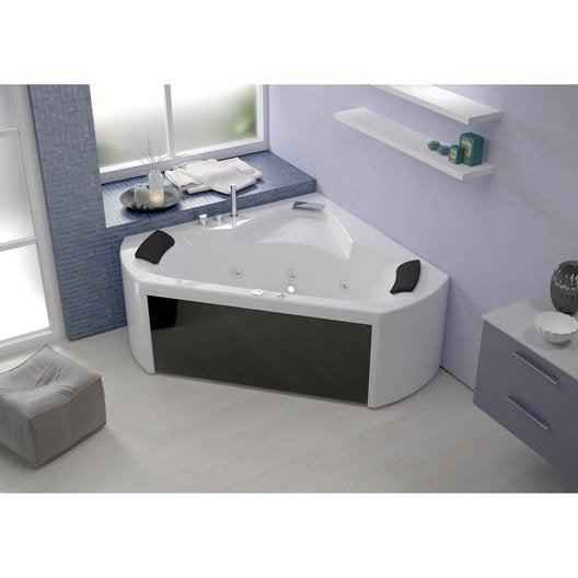 baignoire baln o avec robinetterie angle cm. Black Bedroom Furniture Sets. Home Design Ideas