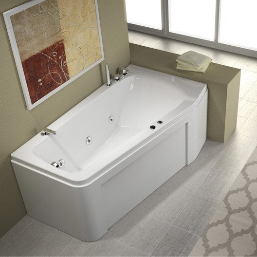 baignoire baln o asym trique cm thala confort. Black Bedroom Furniture Sets. Home Design Ideas