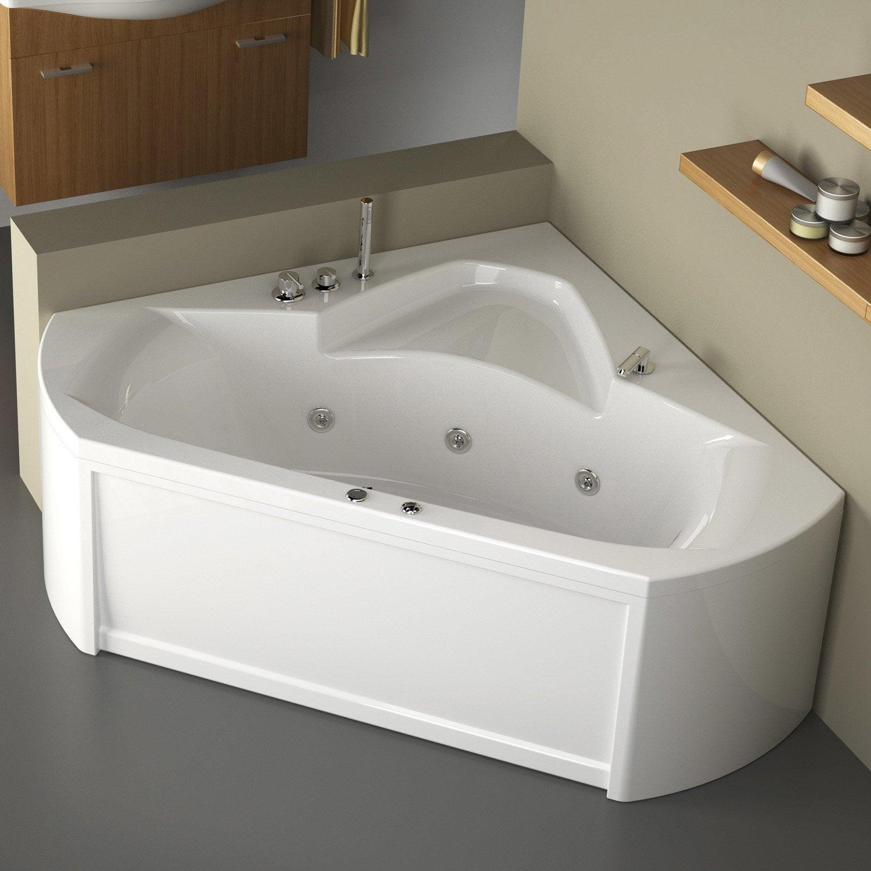 baignoire balneo avec robinetterie angle l 140x l 140 cm thala confort Résultat Supérieur 18 Incroyable Baignoire Avec Robinet Galerie 2018 Hiw6