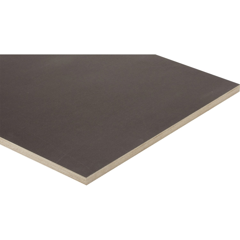 Planche Mélaminé Blanc Castorama panneau contreplaqué antidérapant, ep.18 mm x l.250 x l.122 cm