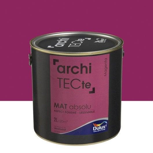 Peinture rose magenta dulux valentine architecte 2 l - Peinture dulux valentine architecte ...