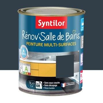 Peinture pour meuble cuisine et bain peinture cuisine et - Peinture salle de bain gris ...
