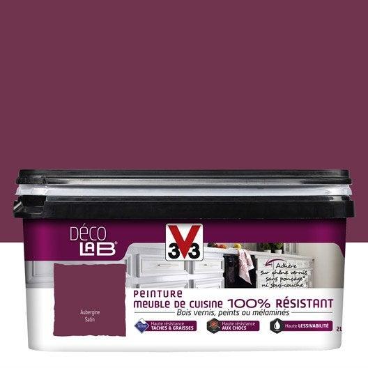 peinture décolab meuble de cuisine 100%résist v33, violet ... - Meuble Cuisine Violet