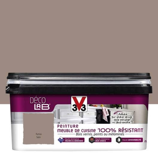 Peinture Décolab meuble de cuisine 100%Résist V33, Brun humus, 2 l ...
