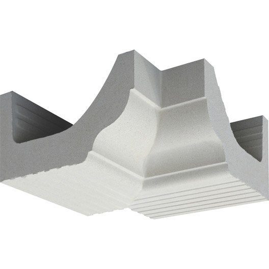 corniche cr profil quart de rond angle intérieur, blanc cassé