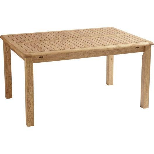 Table De Jardin Naterial Robin Rectangulaire Miel 8 Personnes Leroy Merlin