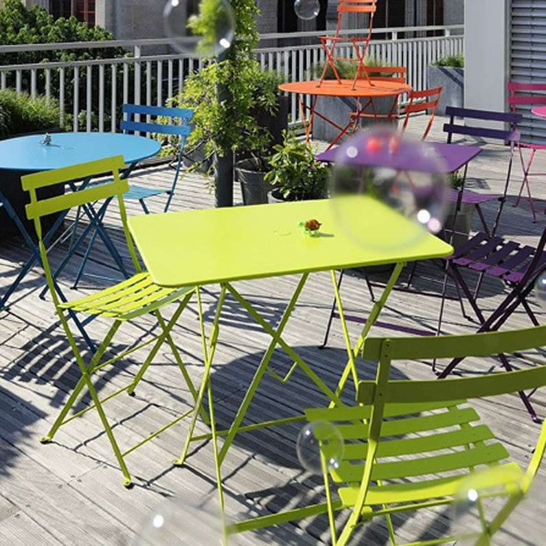 Table de jardin FERMOB Bistro rectangulaire verveine 2 personnes ...