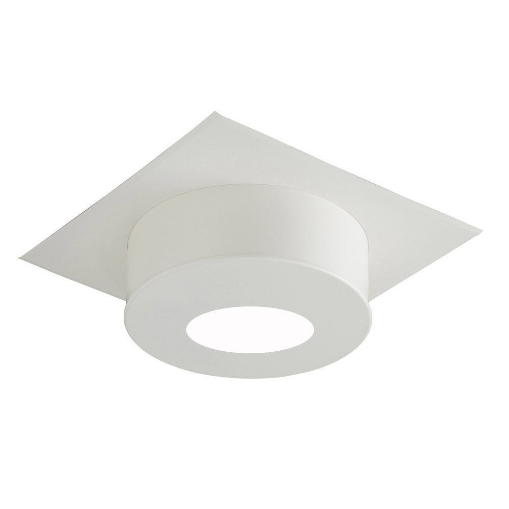 Plaque de finition plafond ronde blanche fp h120 i g for Finition plafond poele a bois
