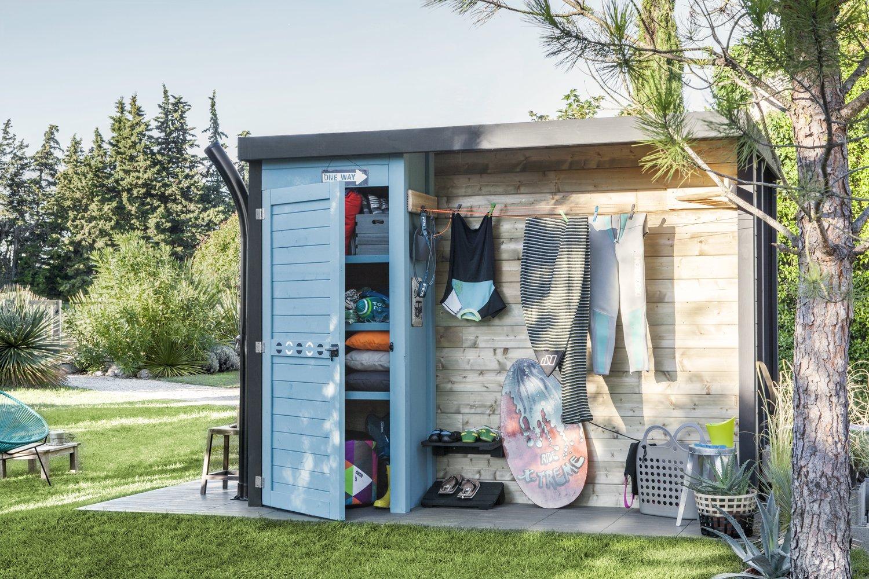 une cabane de rangement multi usages leroy merlin. Black Bedroom Furniture Sets. Home Design Ideas