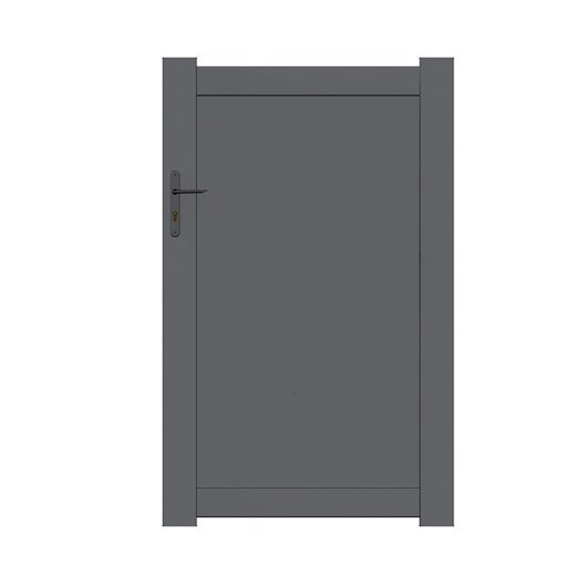 Portillon aluminium bois fer pvc leroy merlin for Portillon plein