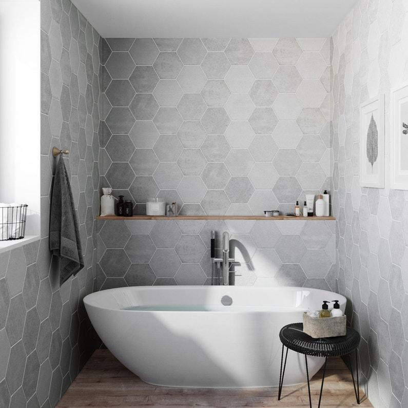 carrelage sol et mur calcaire street hexagone x l. Black Bedroom Furniture Sets. Home Design Ideas