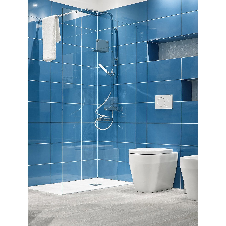 Faïence mur bleu, Tonic l.25 x L.50 cm