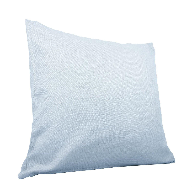Coussin Savanna, bleu lavande l.60 x H.60 cm