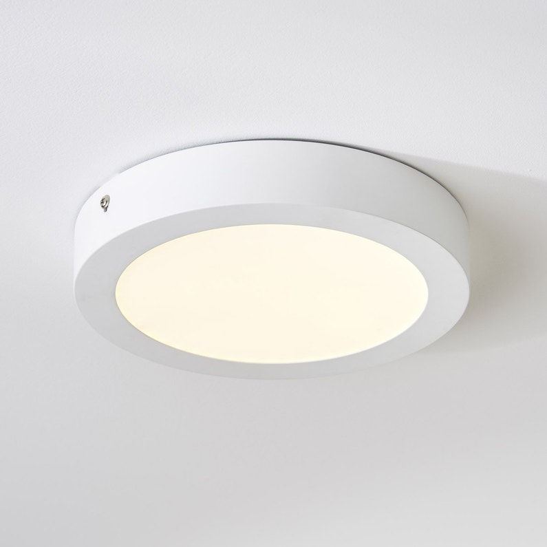 Plafonnier Design Led Integree Fueva Metal Blanc 1 X 18 W EGLO