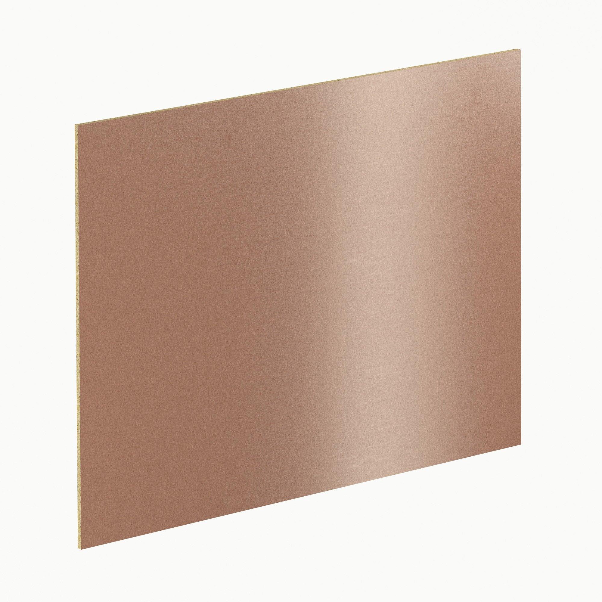 Crédence stratifié Effet cuivre brossé H.64 cm x Ep.9 mm x L.300 cm