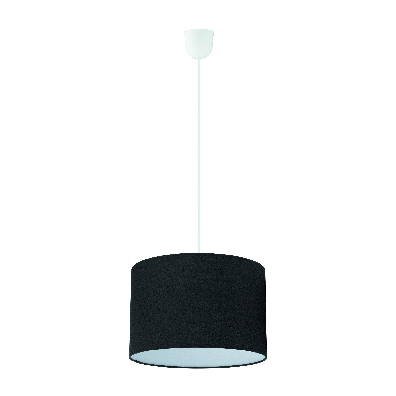 Suspension tissu noir INSPIRE Sitia 1 lumière(s) D.29 cm