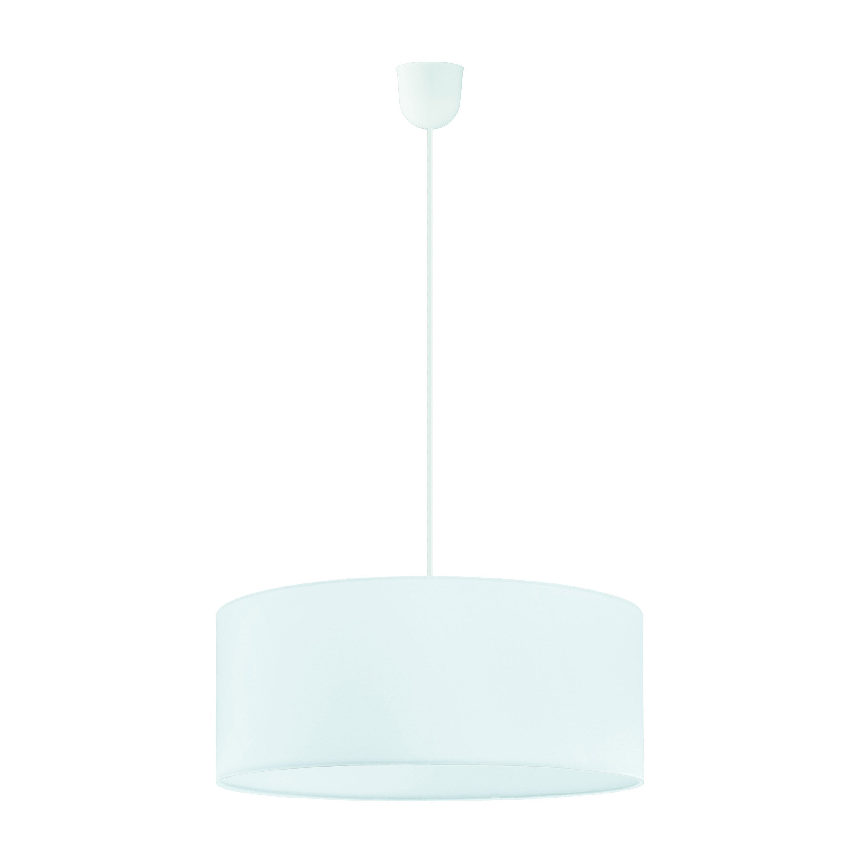 Suspension tissu blanc INSPIRE Sitia 3 lumière(s) D.48 cm