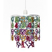 Suspension enfant alphabet acrylique multicolore 1 x 40 w - Luminaire suspension leroy merlin ...