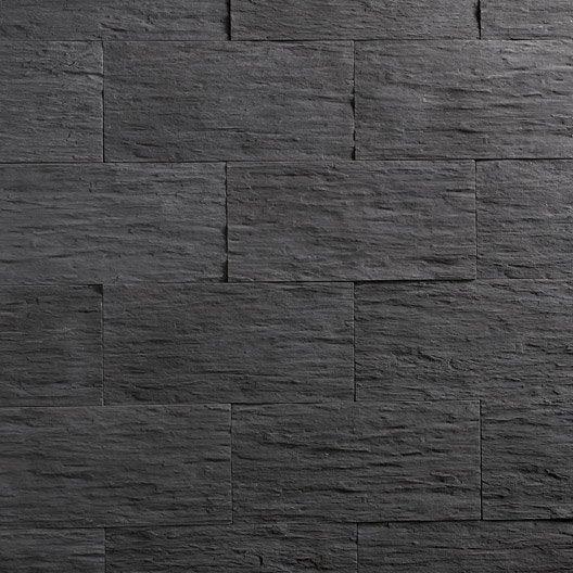 Plaquette de parement Angéroise en béton, anthracite
