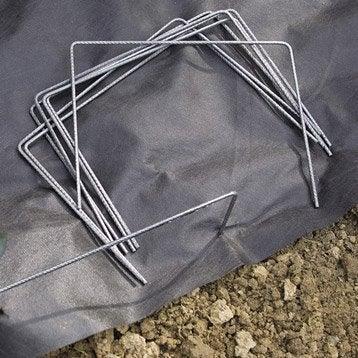 100 agrafes métalliques fixation des toiles NORTENE