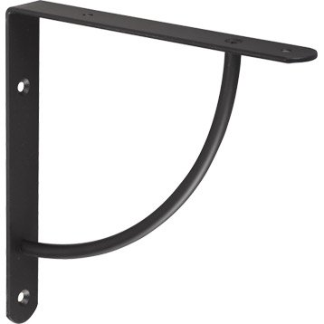 Equerre Bi bop acier epoxy noir, H.18 x P.18 cm